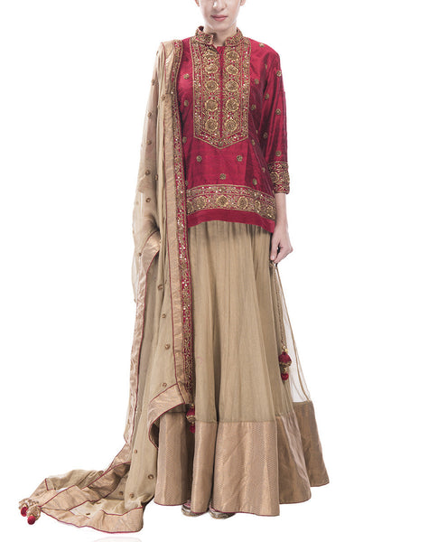 Embroidered Choli and Lehenga Set