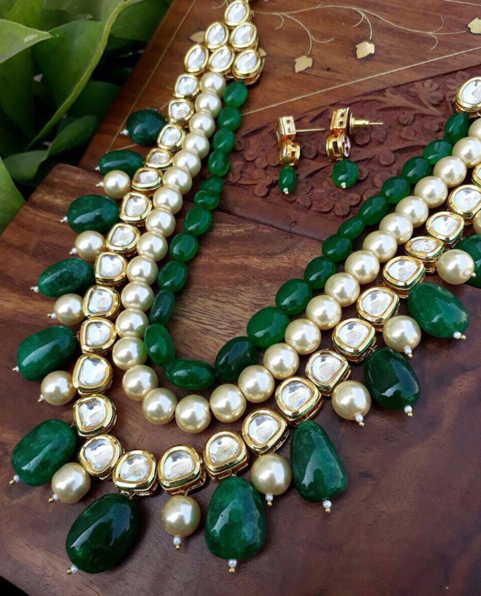 Necklace - Necklace And Earrings Set