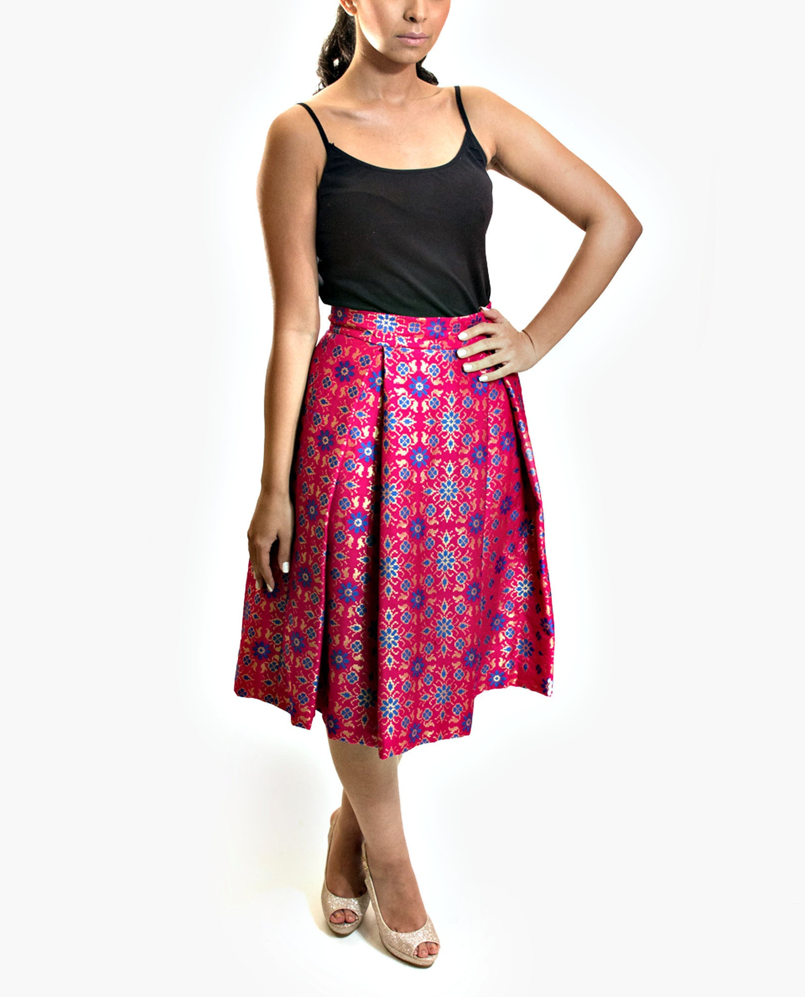 Skirts - Brocade Silk Skirt