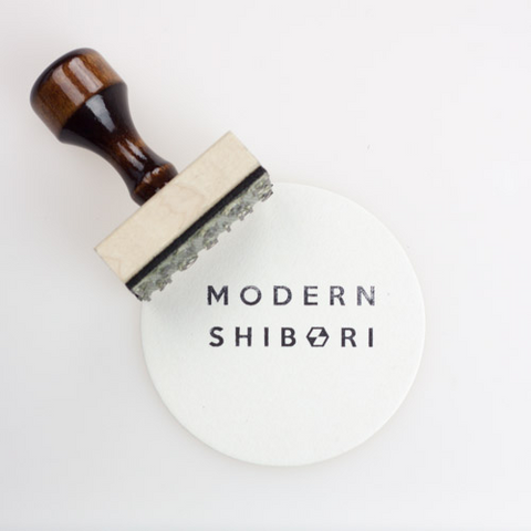 Rubber stamp of Modern Shibori Logo