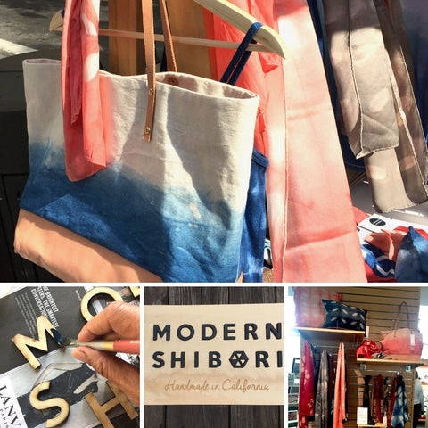Photo collage of 2017 totebag, product and wooden sign