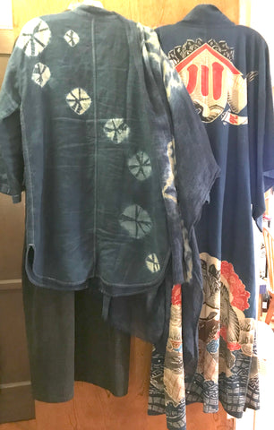 Shibori jacket collection with kimono