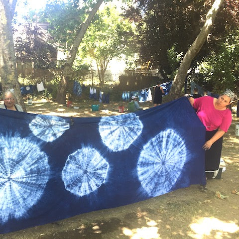 Super large shibori