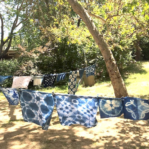 Johnsons Beach shibori retreat at the russian river