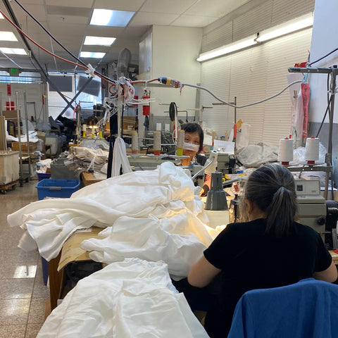 This is a photo of a small woman-owned sewing factory in san francisco