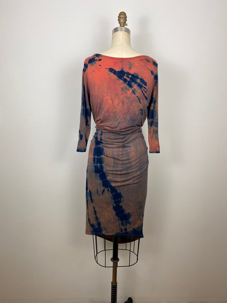 Travel Dress with Pockets Coral Navy Willow