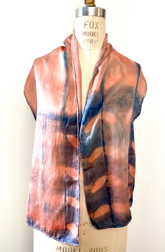 Scarf // Silk Satin Scarf Pink Purple Indigo Madder