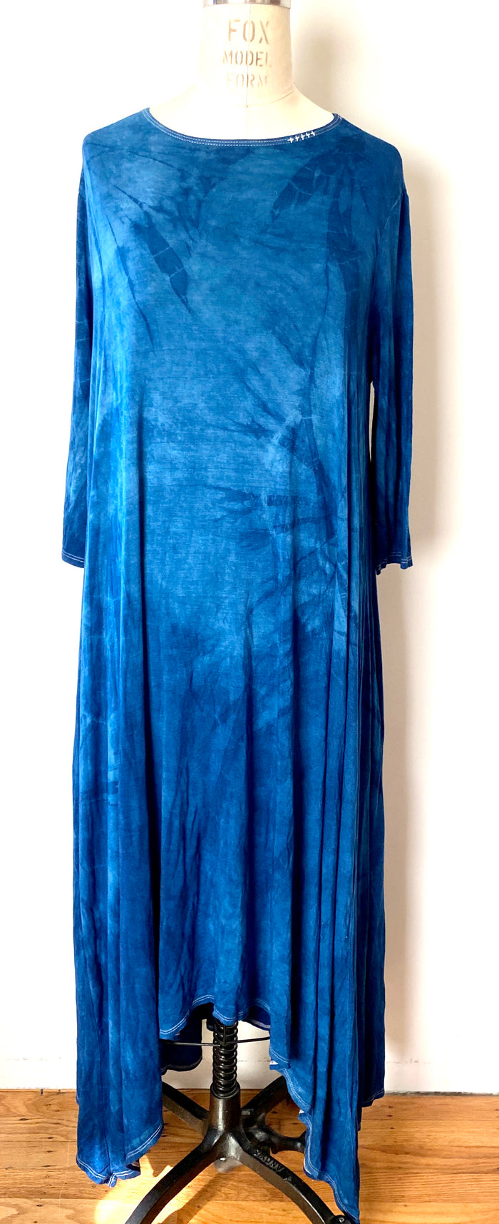 Dress // Indigo Hankerchief dress // Large Only 1 left