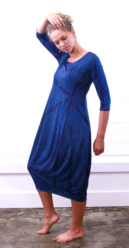 Travel Dress with Pockets Blue Willow