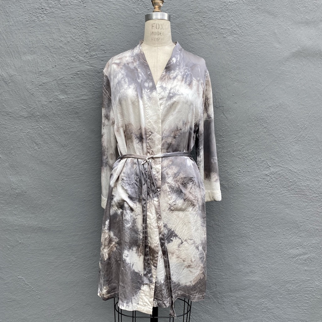 Grey Silk Kimono | For Women - Large Only