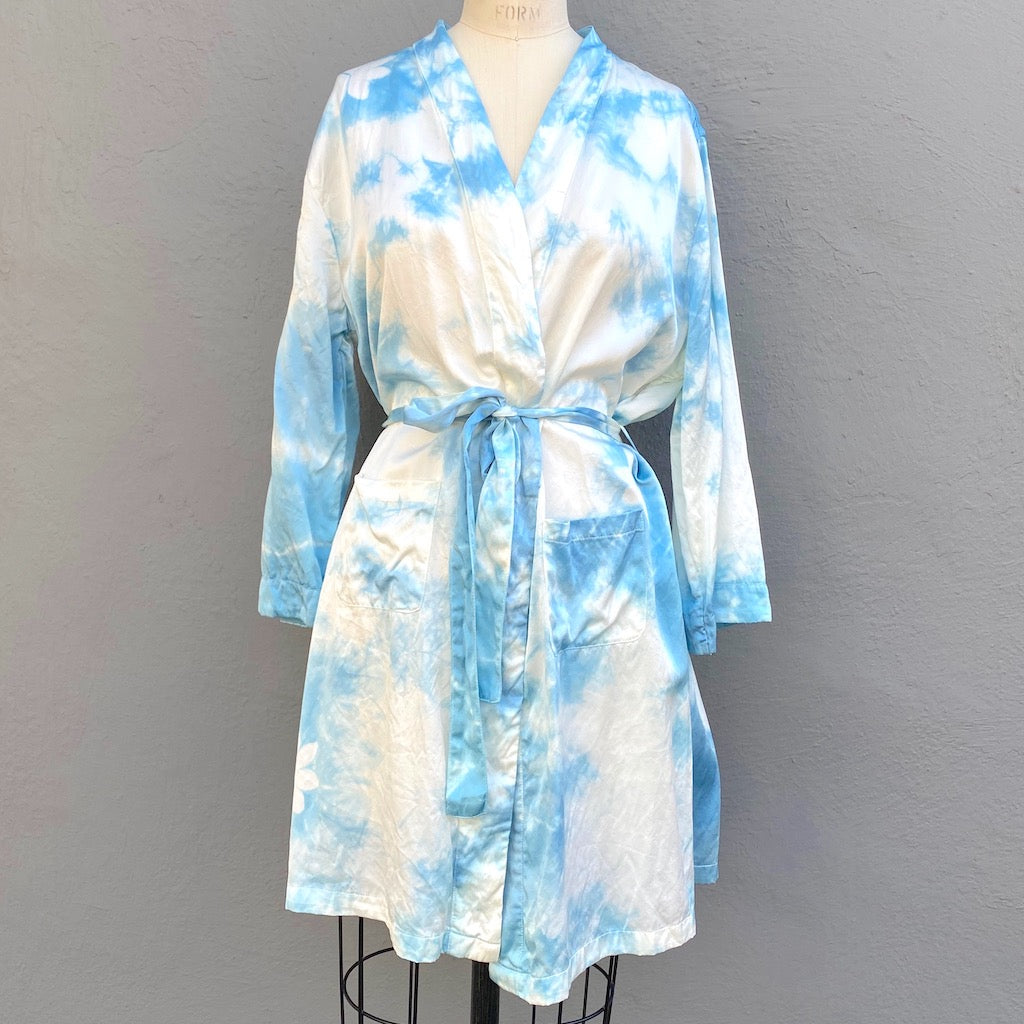 Indigo Blue Silk Kimono | For Women - Med Only