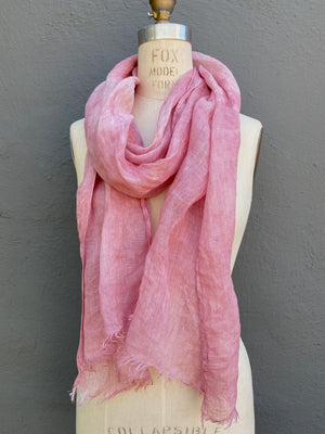 Pink Linen Scarf | For Men & Women