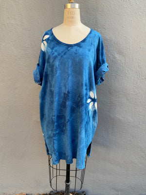 Indigo Blue | Tunic Top | For Men & Women | Organic Cotton - Modern Shibori