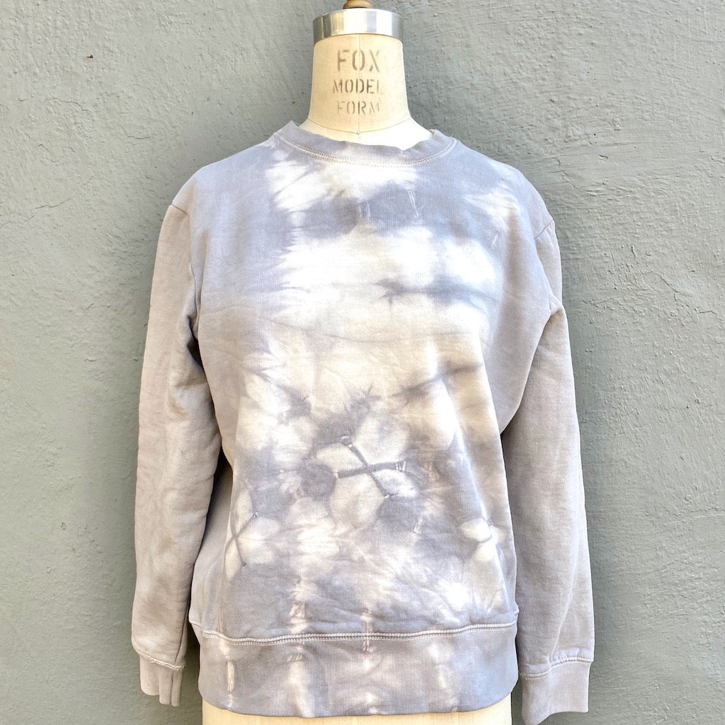 Grey | Luxury Sweatshirt | For Men & Women | Organic Cotton | Life - Modern Shibori