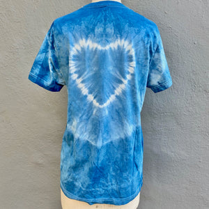 T shirt | For Men & Women | California Grown Cotton | Ultra Soft | Blue Love - Modern Shibori