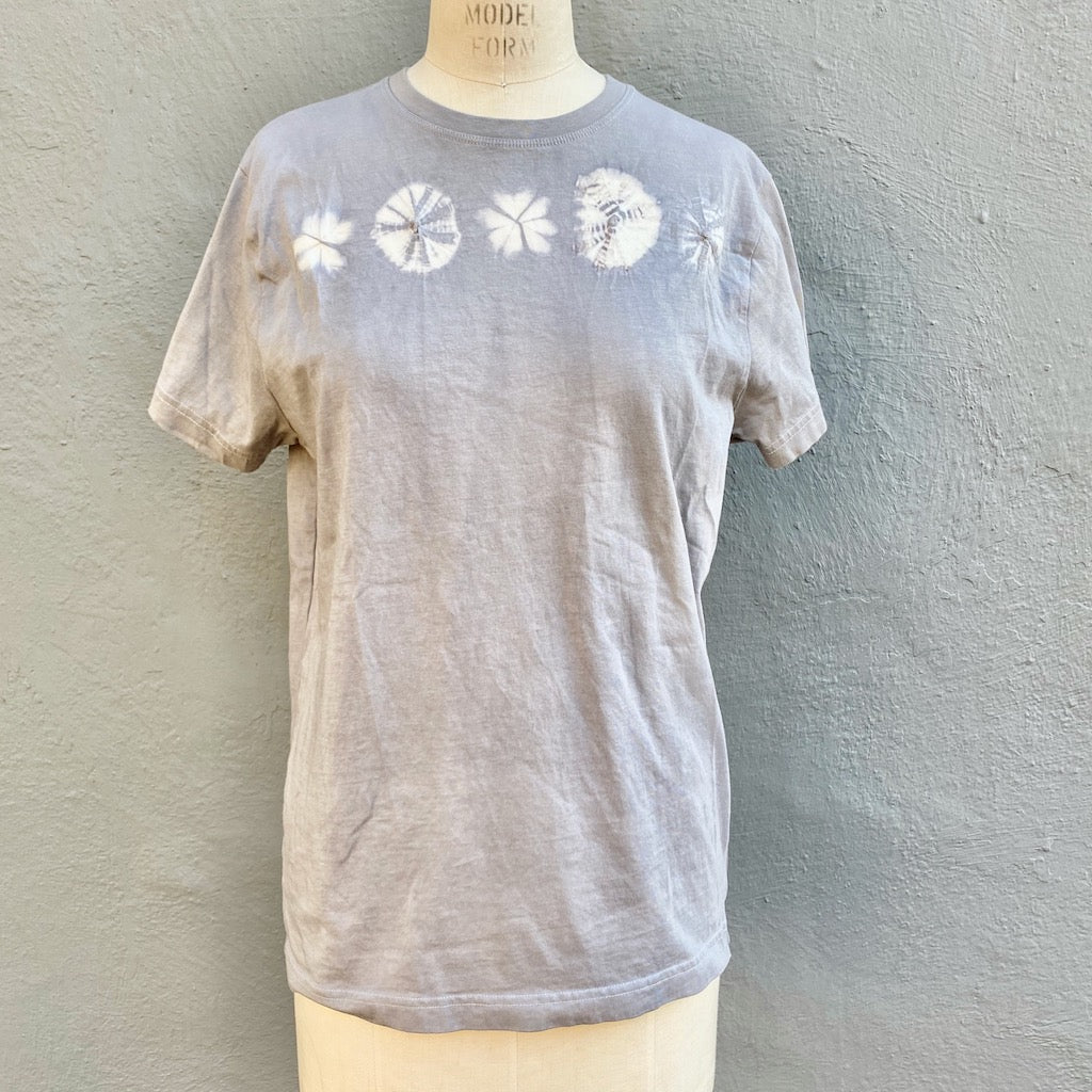 Grey T shirt | For Men & Women | California Grown Cotton | Ultra Soft | Grey Celebrate - Modern Shibori