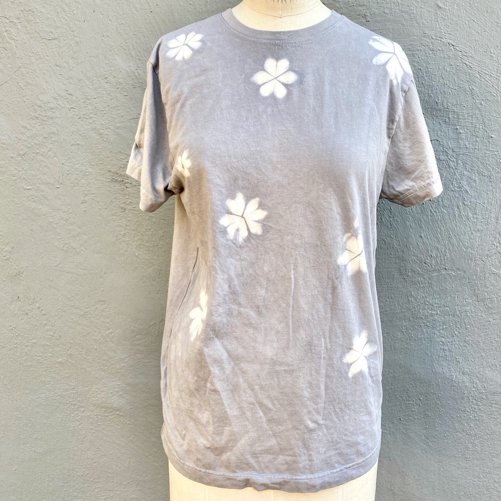 Grey T shirt | For Men & Women | California Grown Cotton | Ultra Soft | Grey Laughter - Modern Shibori