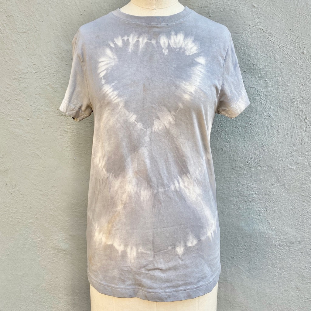 Grey | T shirt | For Men & Women | California Grown Cotton | Ultra Soft | Love - Modern Shibori