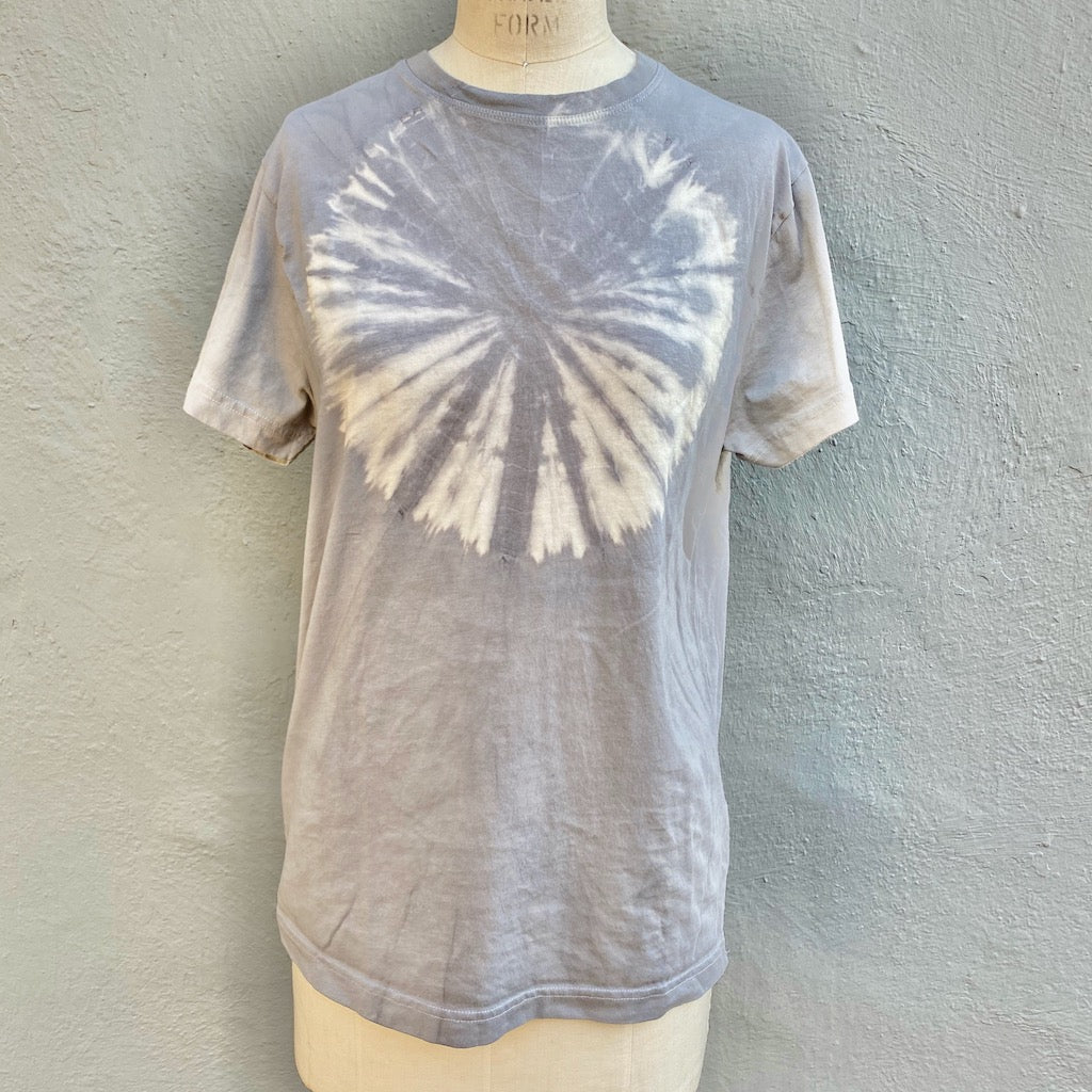 Grey T shirt | For Men & Women | California Grown Cotton | Ultra Soft | Grey Planet - Modern Shibori