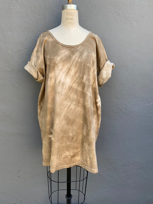Camel | Sakura | Tunic Top | For Men & Women | Organic Cotton - Modern Shibori