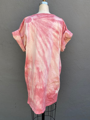 Raspberry Sakura | Tunic Top | For Men & Women | Organic Cotton - Modern Shibori