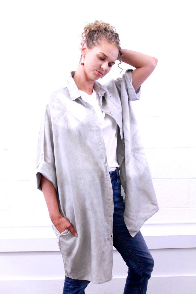 Linen Smock - Grey Eclipse