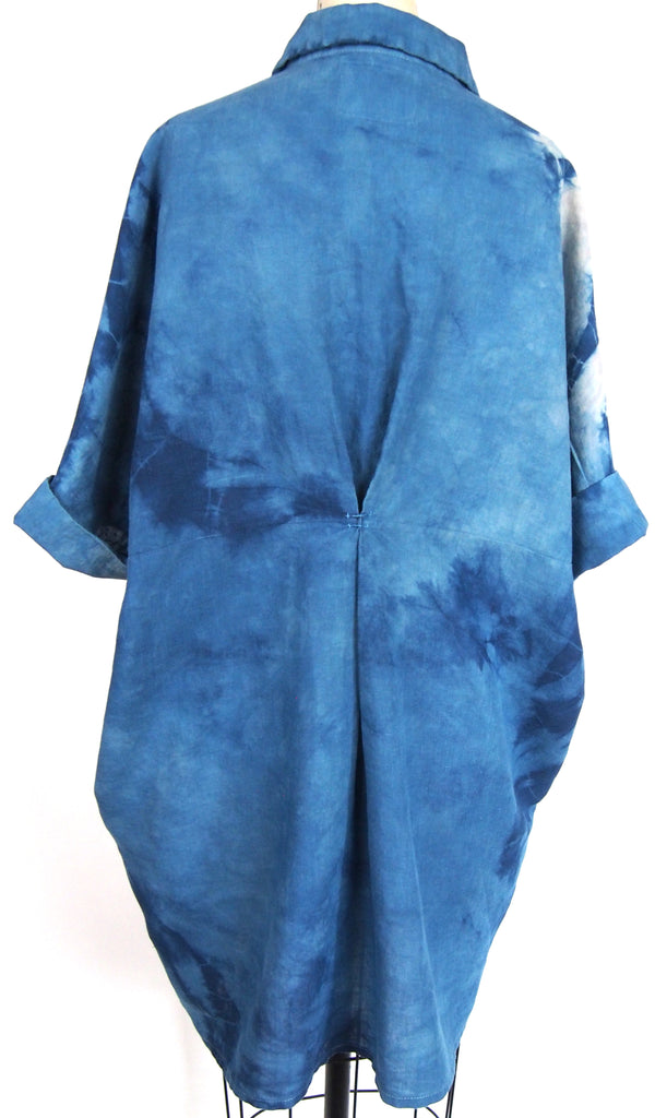 Linen Smock - Blue Eclipse