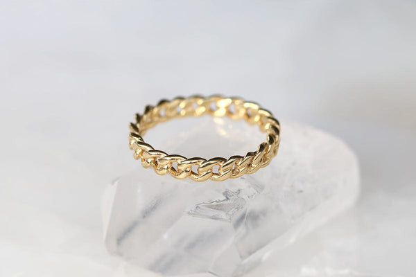 Chain Ring Yellow Gold