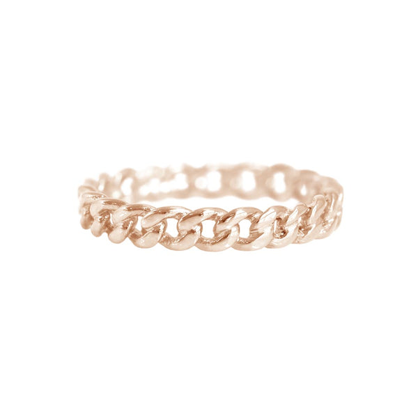 Chain Ring Rose Gold