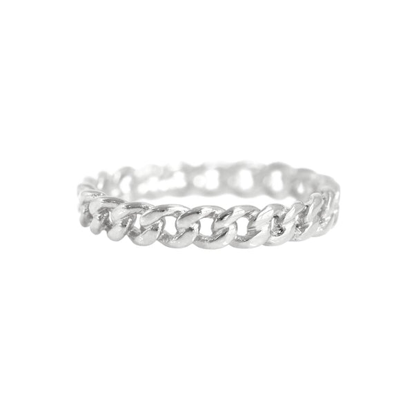 Chain Ring White Gold