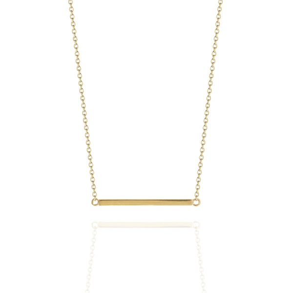 Fine Bar Necklace Yellow Gold