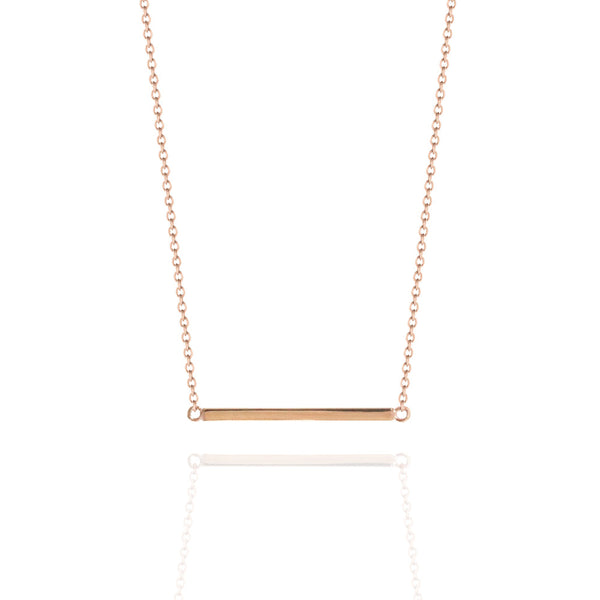 Fine Bar Necklace Rose Gold