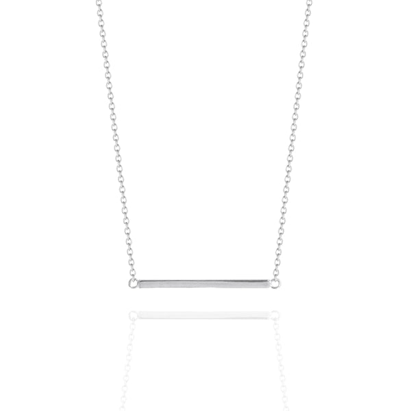 Fine Bar Necklace White Gold
