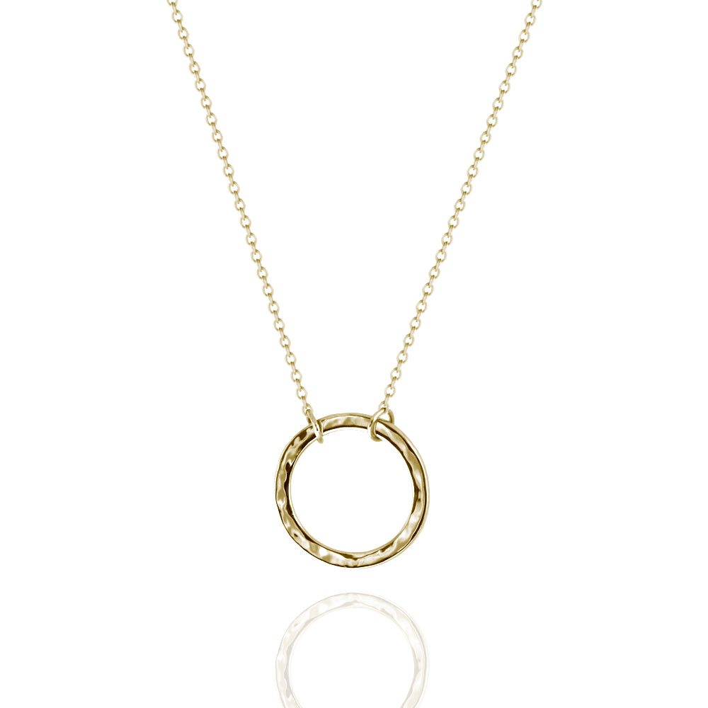Circle Necklace Yellow Gold
