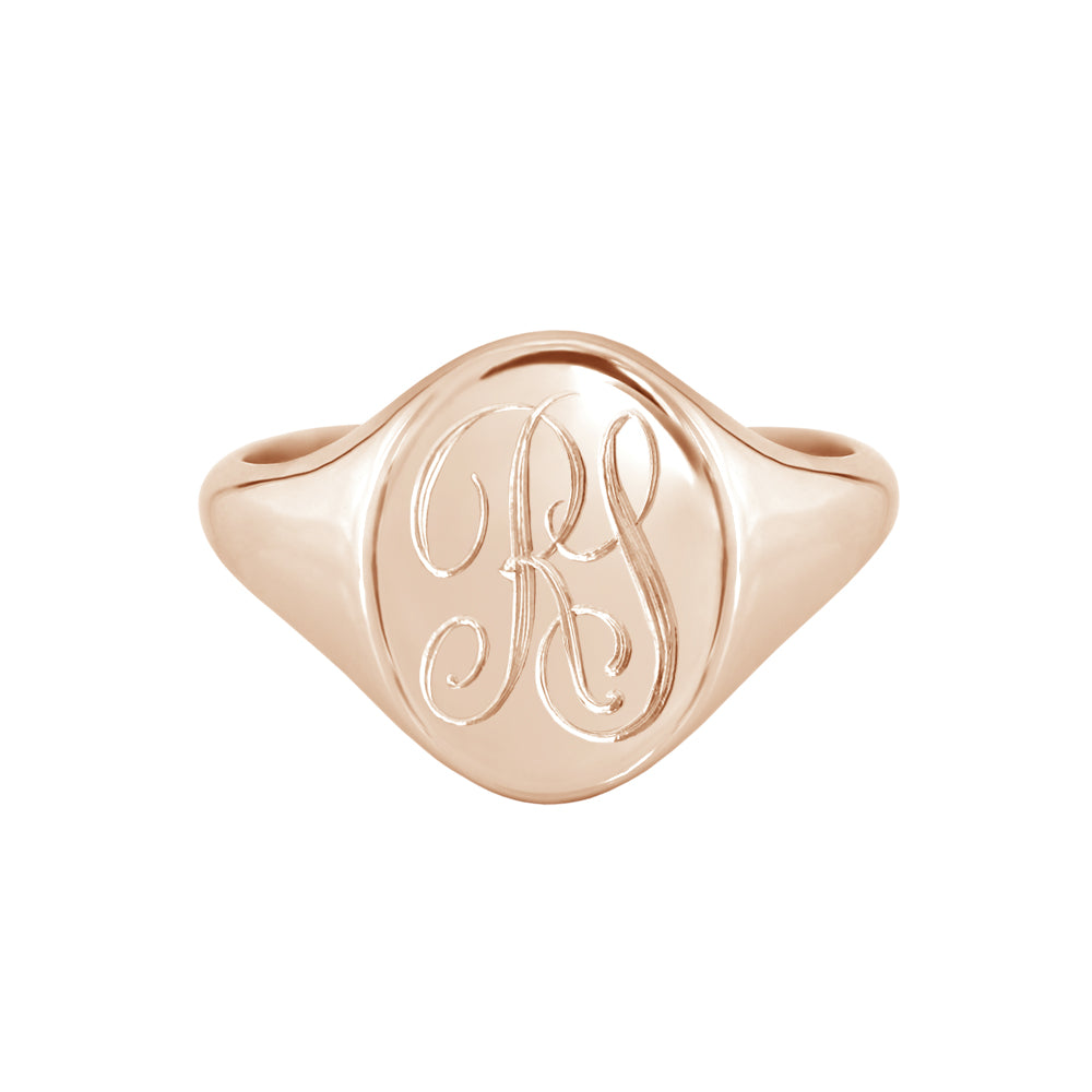 Monogram Signet Ring Rose Gold
