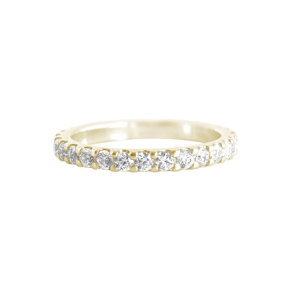Shared Claw Diamond Ring Yellow Gold