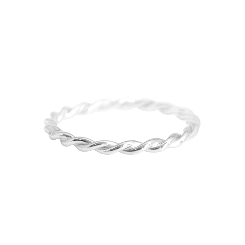 Petite Twist Ring White Gold