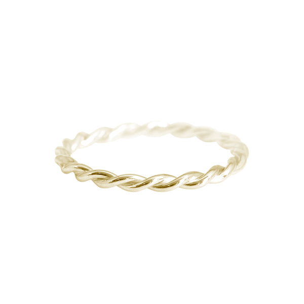 Petite Twist Ring Yellow Gold