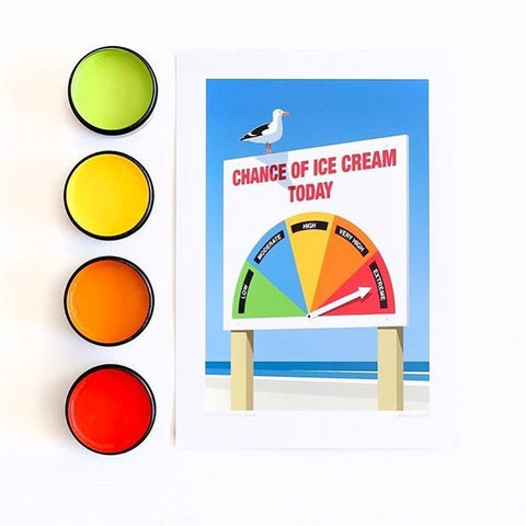 Chance Of Ice Cream Art Print
