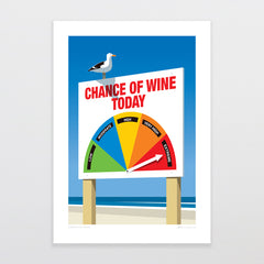 Chance of Wine Art Print