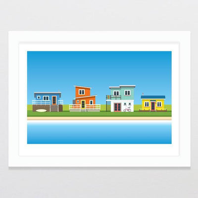 Glenn Jones Art Bach Life 2 - A2 Limited Edition Art Print A2 Framed - White
