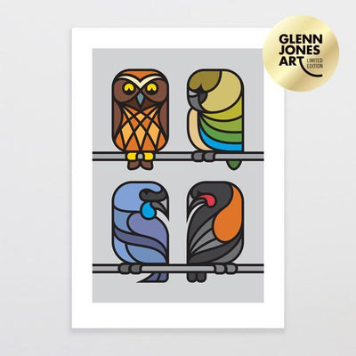 Simply Natives 2 - A2 Limited Edition Art Print-Glenn Jones Art