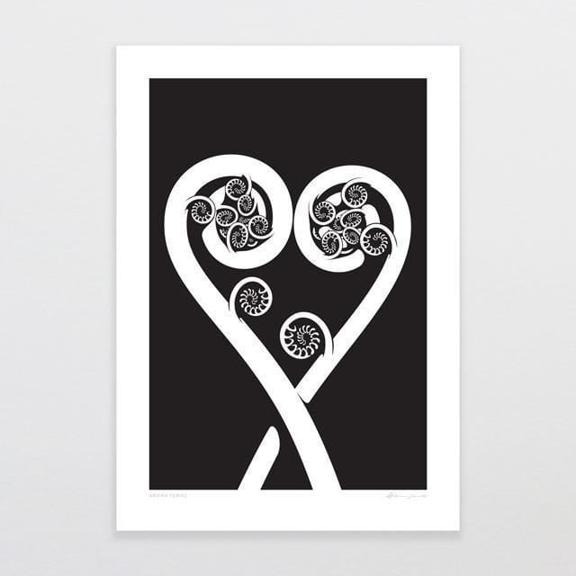 Aroha Ferns Art Print-Glenn Jones Art