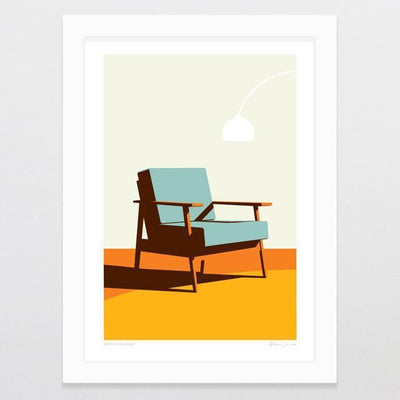 Retro Relaxer Art Print-Glenn Jones Art