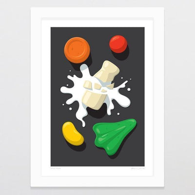 Spilt Milk Art Print-Glenn Jones Art