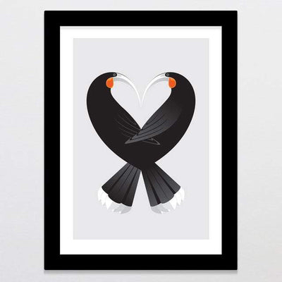 Glenn Jones Art Aroha Huia - Limited Edition Art Print Art Print A3 Print / Black Frame