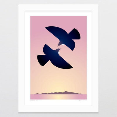 Evening Tui Art Print-Glenn Jones Art