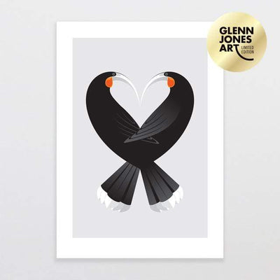 Glenn Jones Art Aroha Huia - Limited Edition Art Print Art Print A3 Print / Unframed