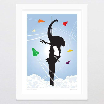 Glenn Jones Art Above The Clouds Art Print Art Print A3 Print / White Frame