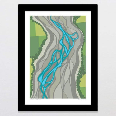 Glenn Jones Art All The Rivers Run Art Print Art Print A4 Print / Black Frame